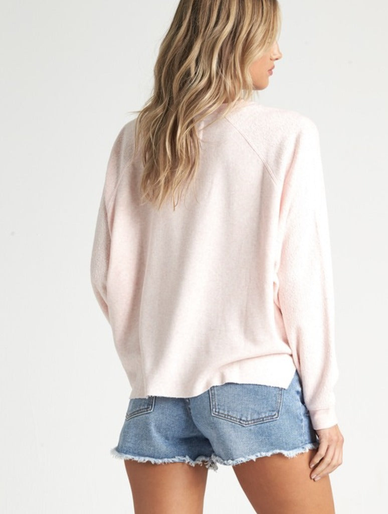 Billabong Carried Away Fleece in Blush