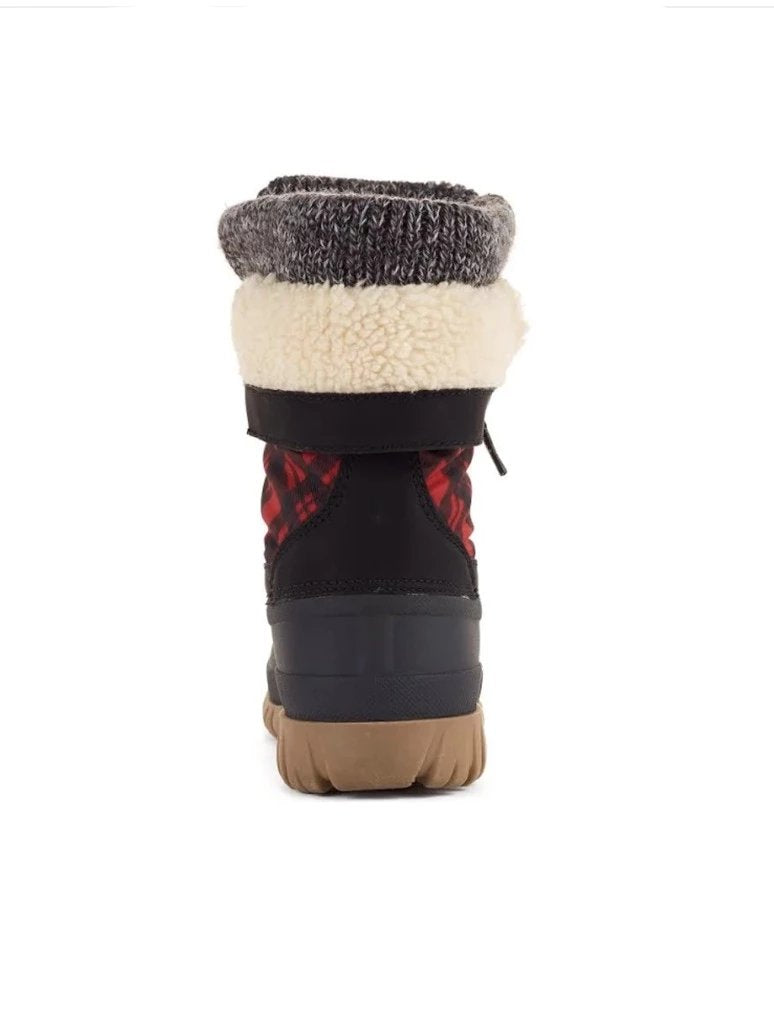 Cougar Creek Snow Boot in Black/Red/Plaid