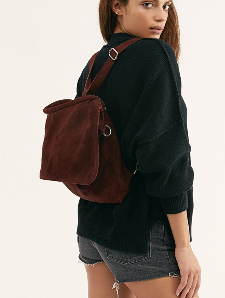 Free People Paris Backpack in Wine