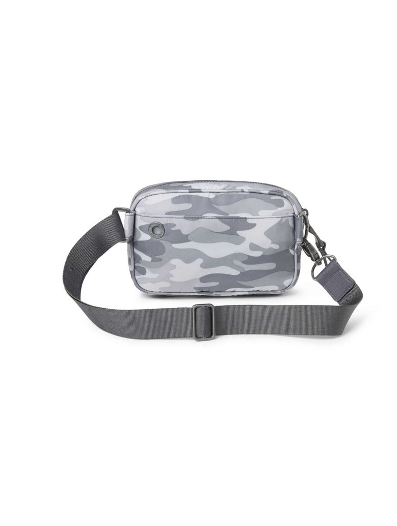 Baggalini Downtown Waistbag in Grey Camo