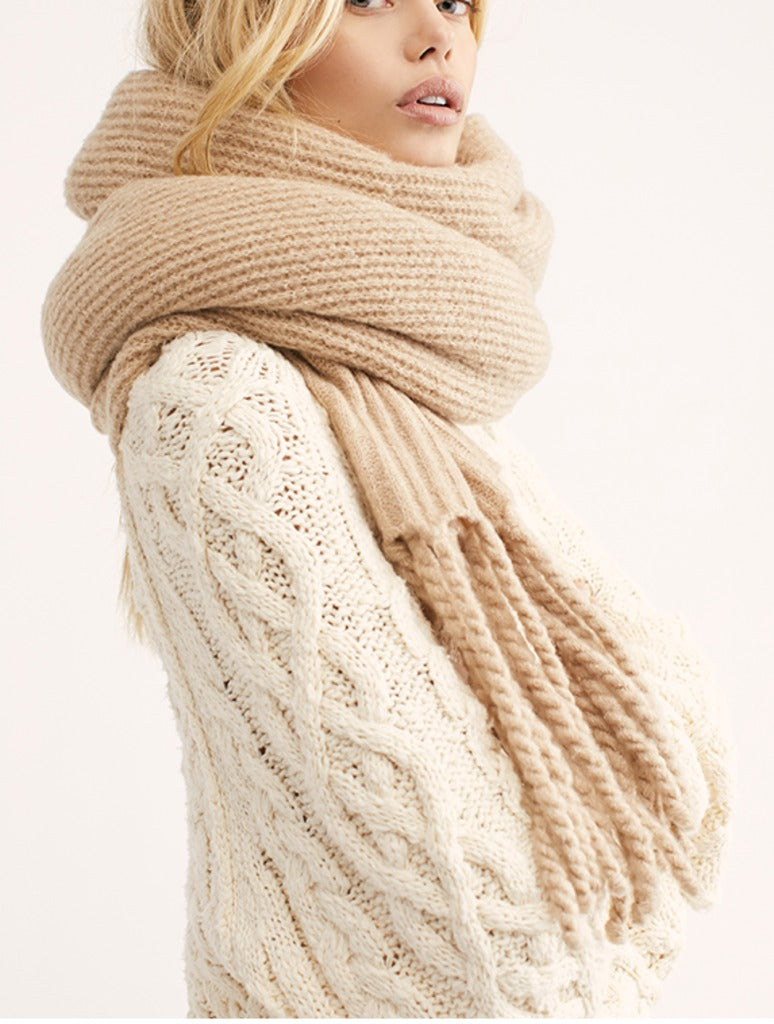 Free People Jaden Scarf in Ivory