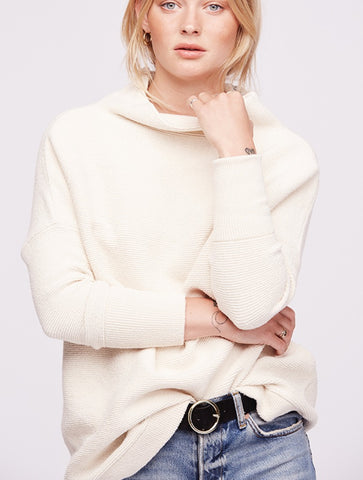 Free People Easy Street Sweater Tunic in White
