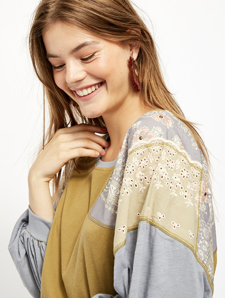 Free People Feelin It Tee in Army