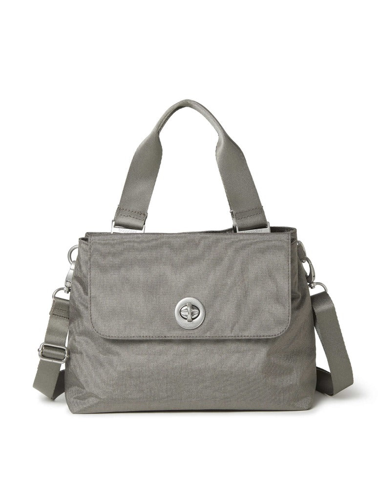 Baggalini Antwerp Satchel in Sterling Shimmer