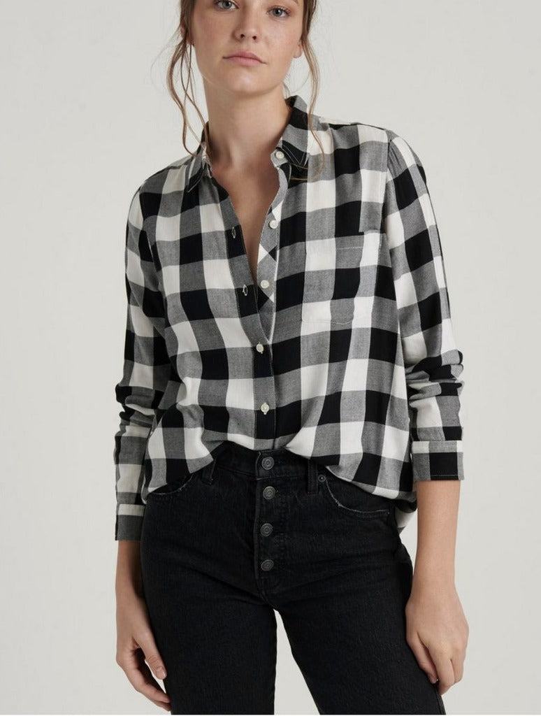 Lucky Brand Pocket Plaid in Black