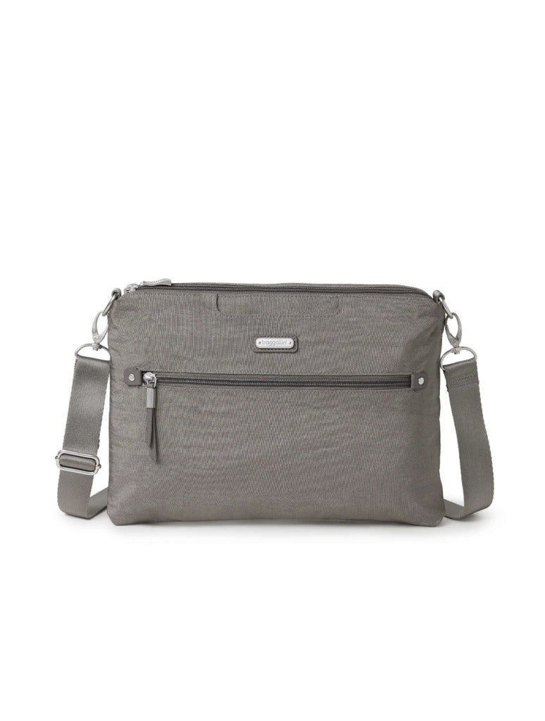 Baggallini 5 Blocks Crossbody in Sterling Shimmer