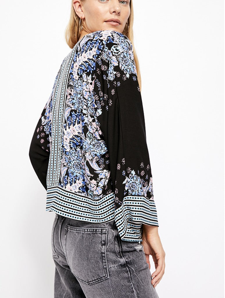 Free People Mix N Match Blouse in Black
