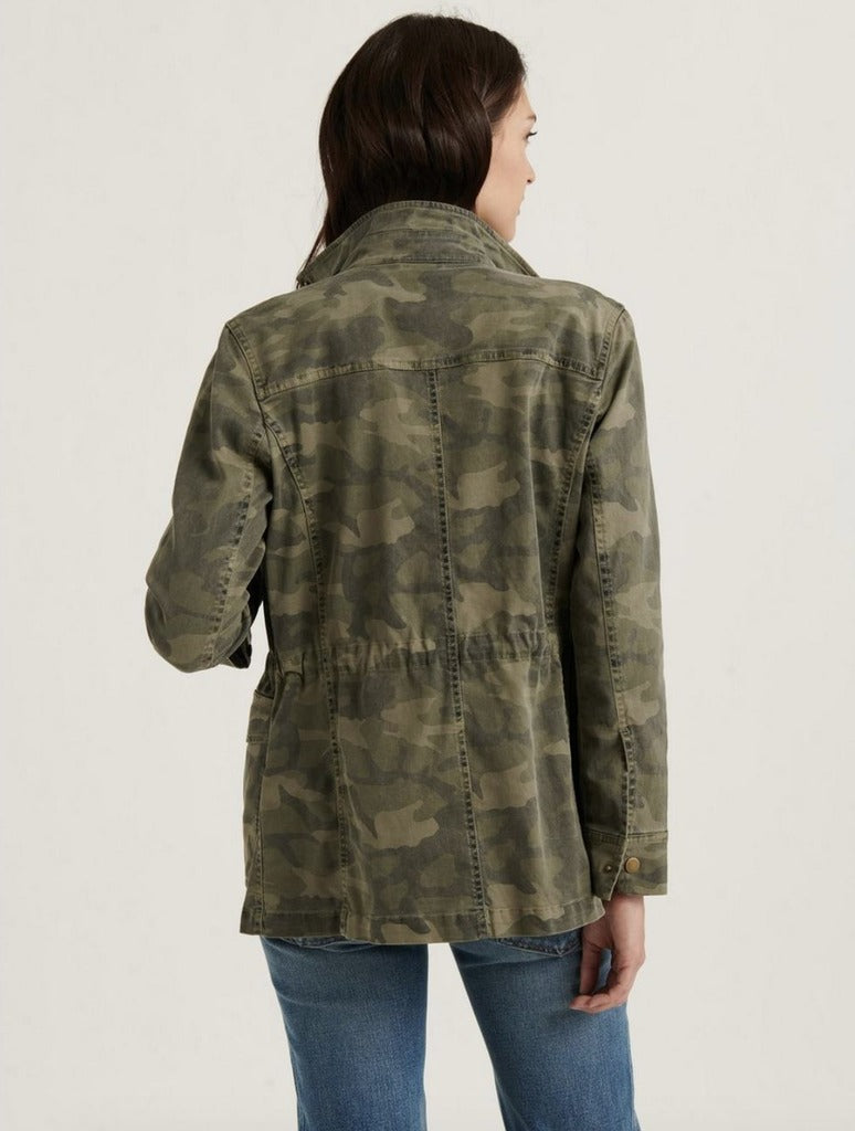 Lucky Brand Printed Utility Jacket in Green