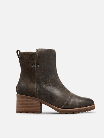 Born Temple Rope Tie Bootie in Dark Brown