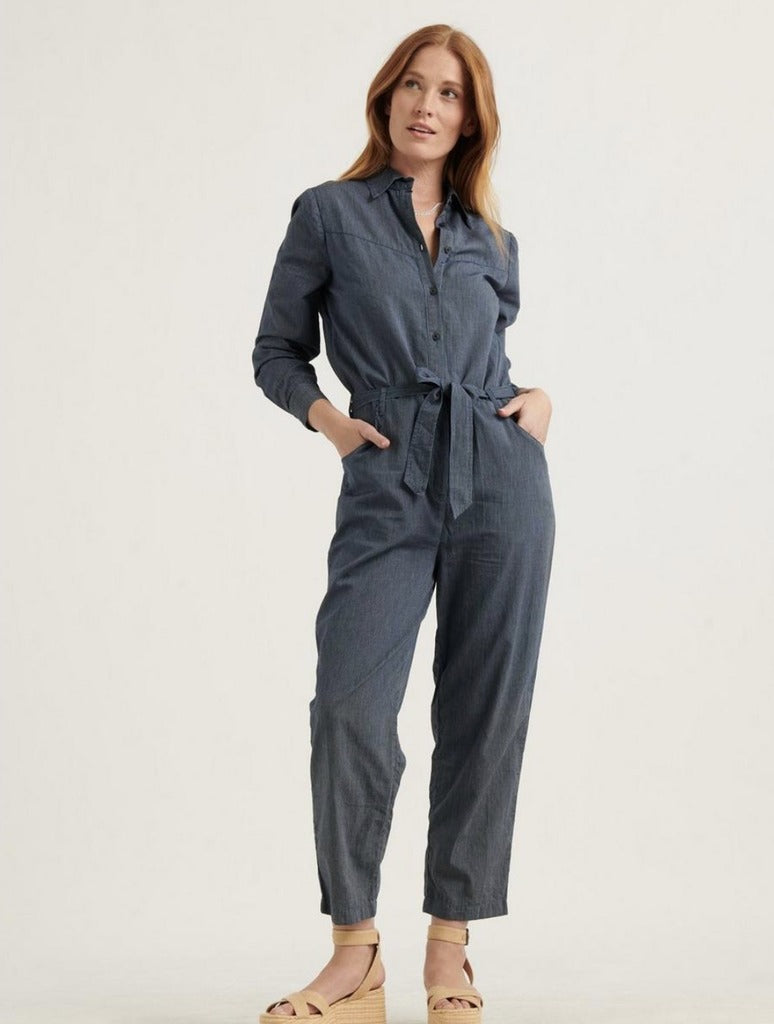 Lucky Brand Logan Jumpsuit in Dark Wash