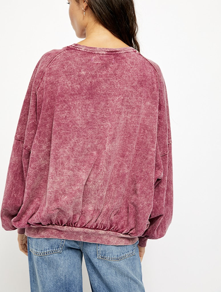 Free People 213 Tee in Wine