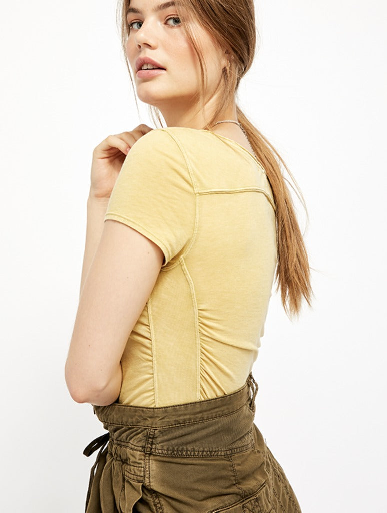 Free People Sonnet Tee in Chartruese