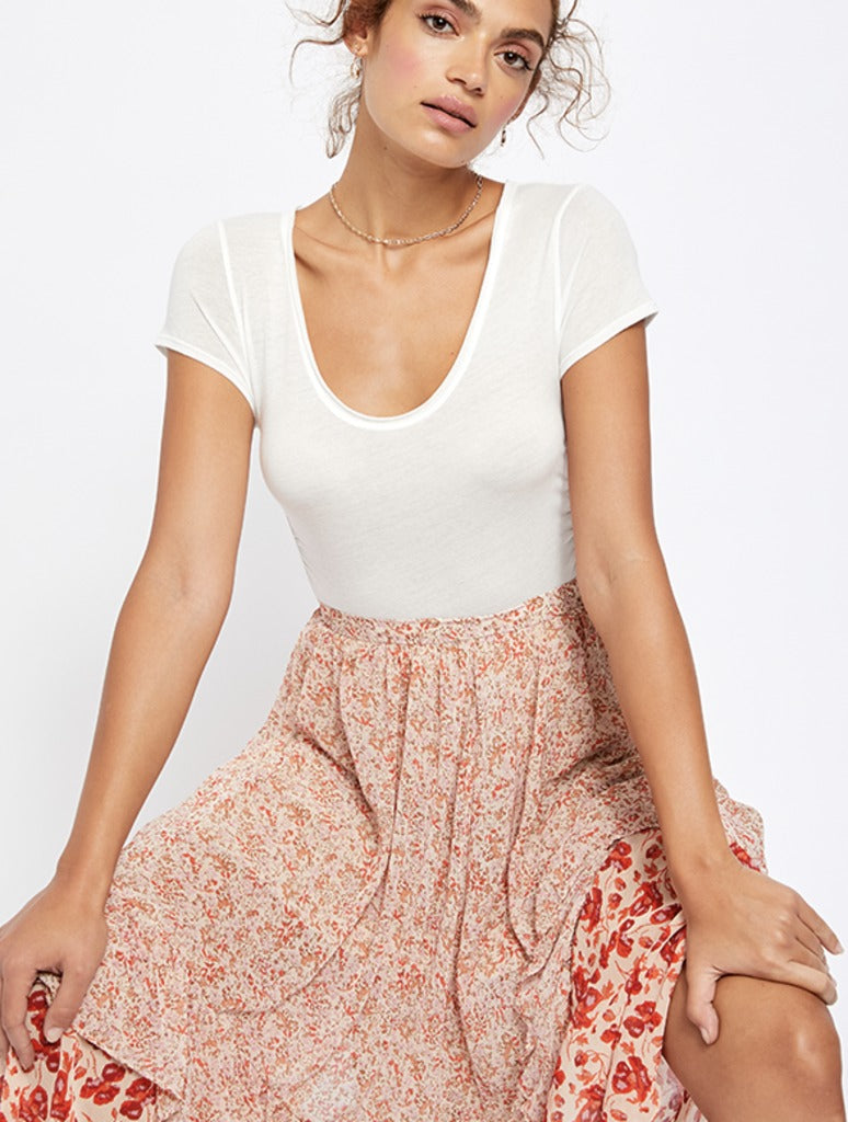Free People Sonnet Tee in White