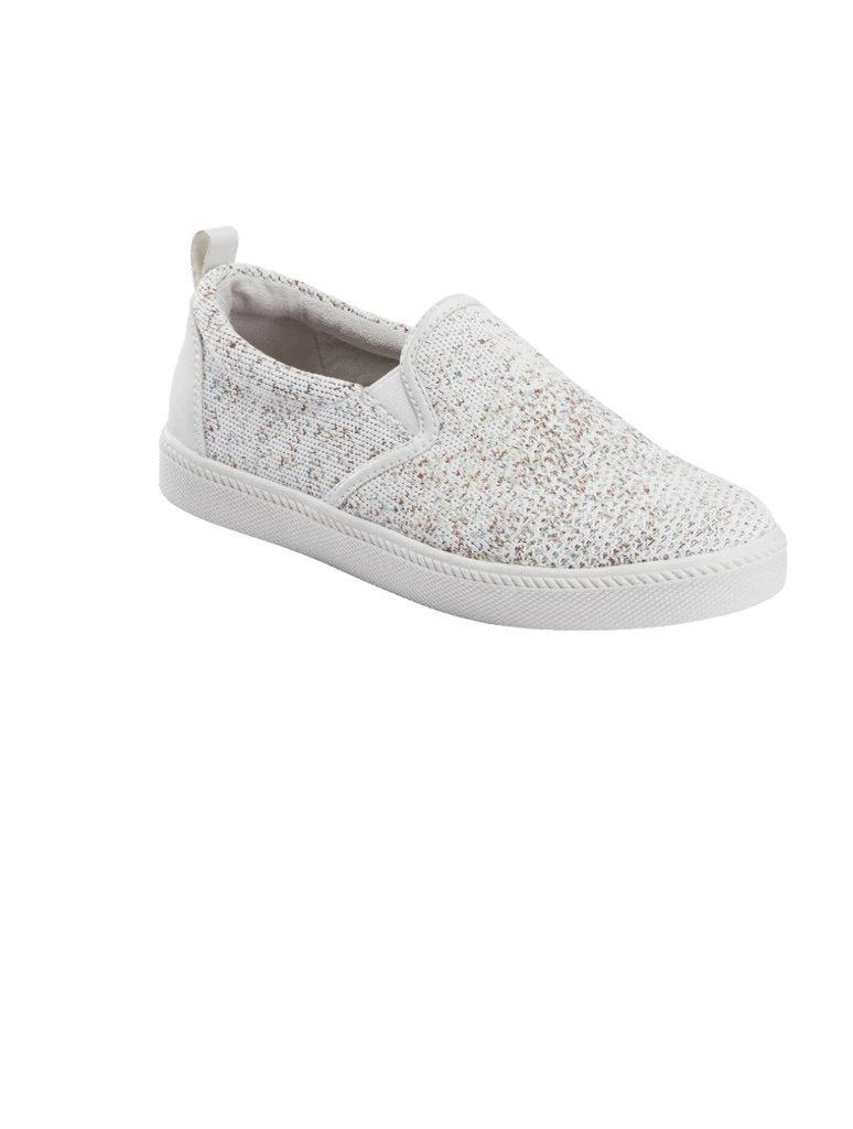 Earth Zen Groove Sport Slip On Knit Sneaker in White Multi