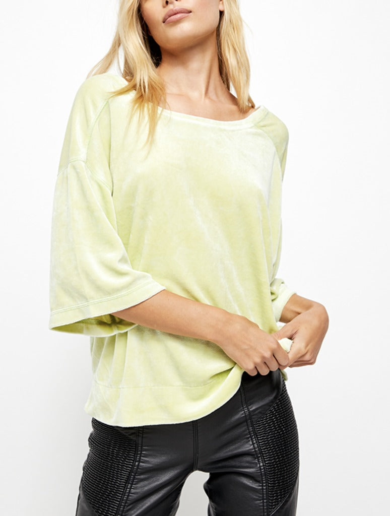 Free People Valerie Tee in Lime