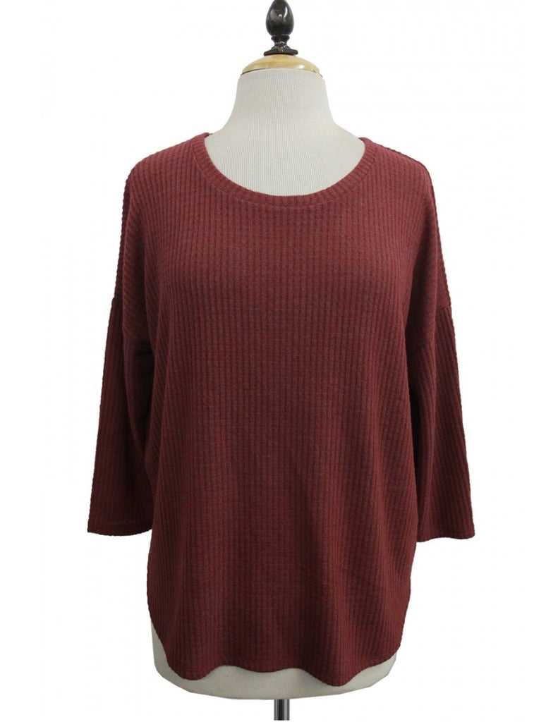 Coin 1804 Dolman Scoop Neck in Ruby