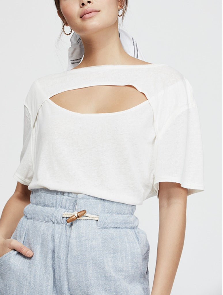 Free People June Tee in White