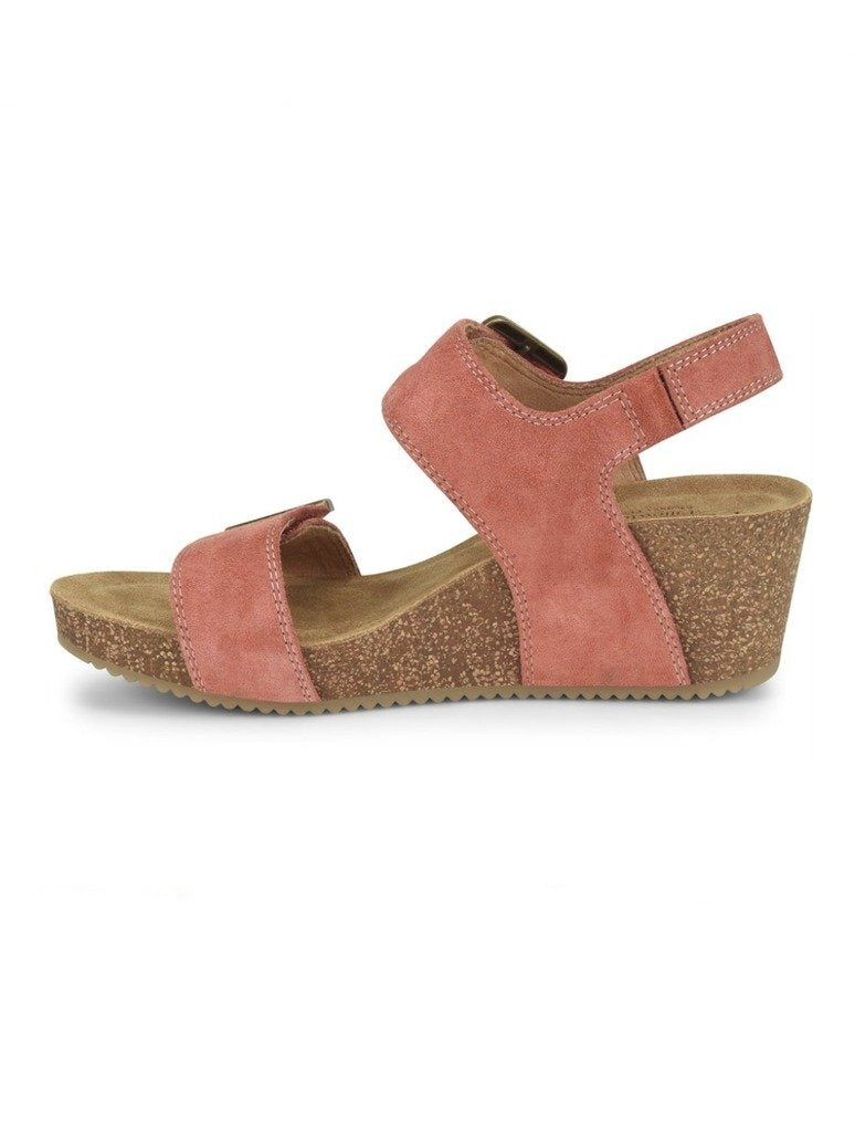 Comfortiva Emberly Wedge Sandal in Coral