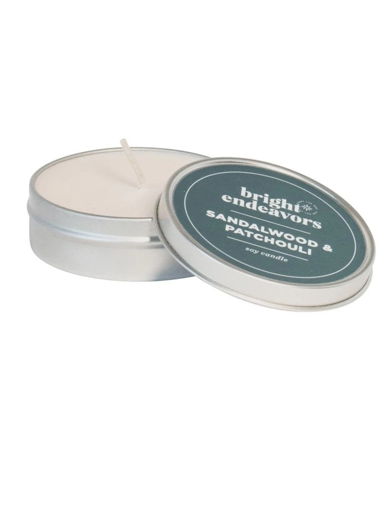 Bright 4oz Small Tin Sandalwood/Patchouli