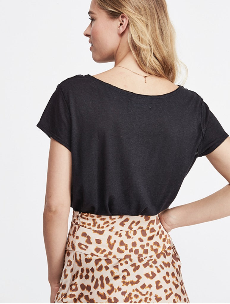Free People June Tee in Black
