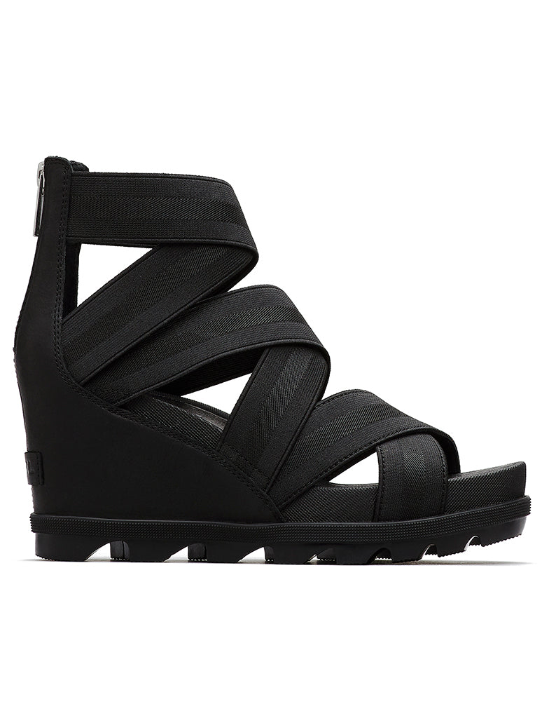 Sorel Joanie II Strap Wedge Sandal in Black