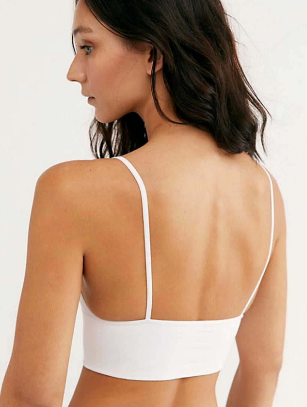 Free People Andi Square Neck Bralette in White