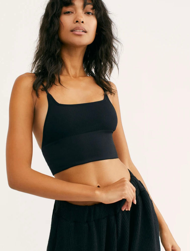 Free People Andi Square Neck Bralette in Black