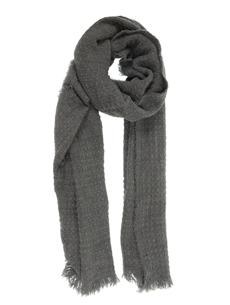 Joy Susan Eyelash Scarf in Charcoal