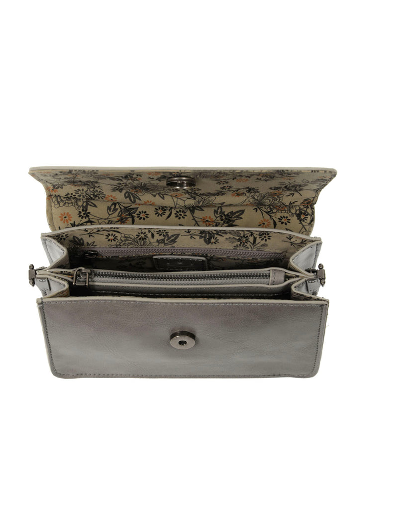 Joy Susan Aria Ring Bag in Grey