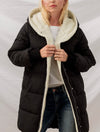Trend Notes Sherpa Fleece Lined Jacket in Black