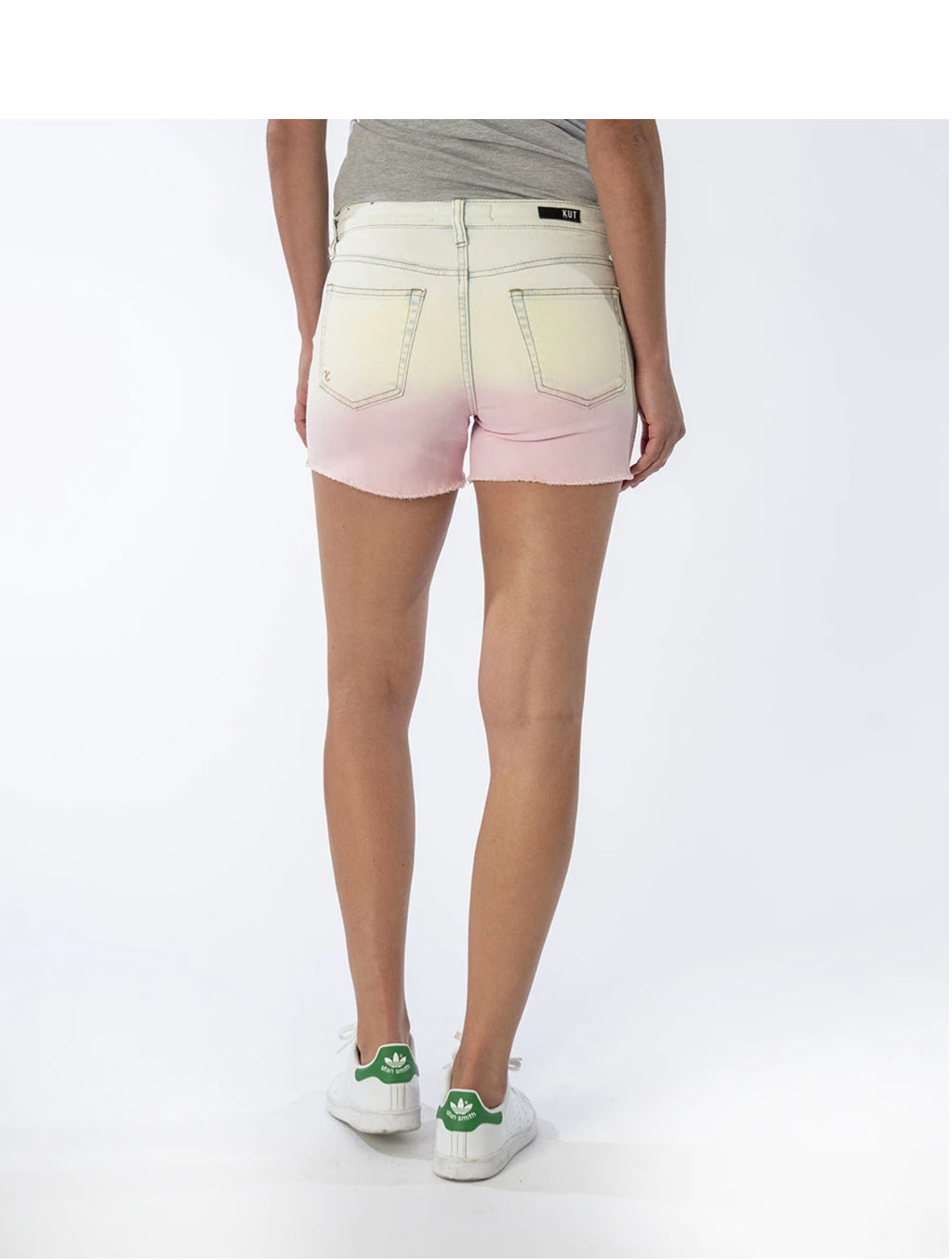 Kut Ombré Gidget Short in Yellow/Pink