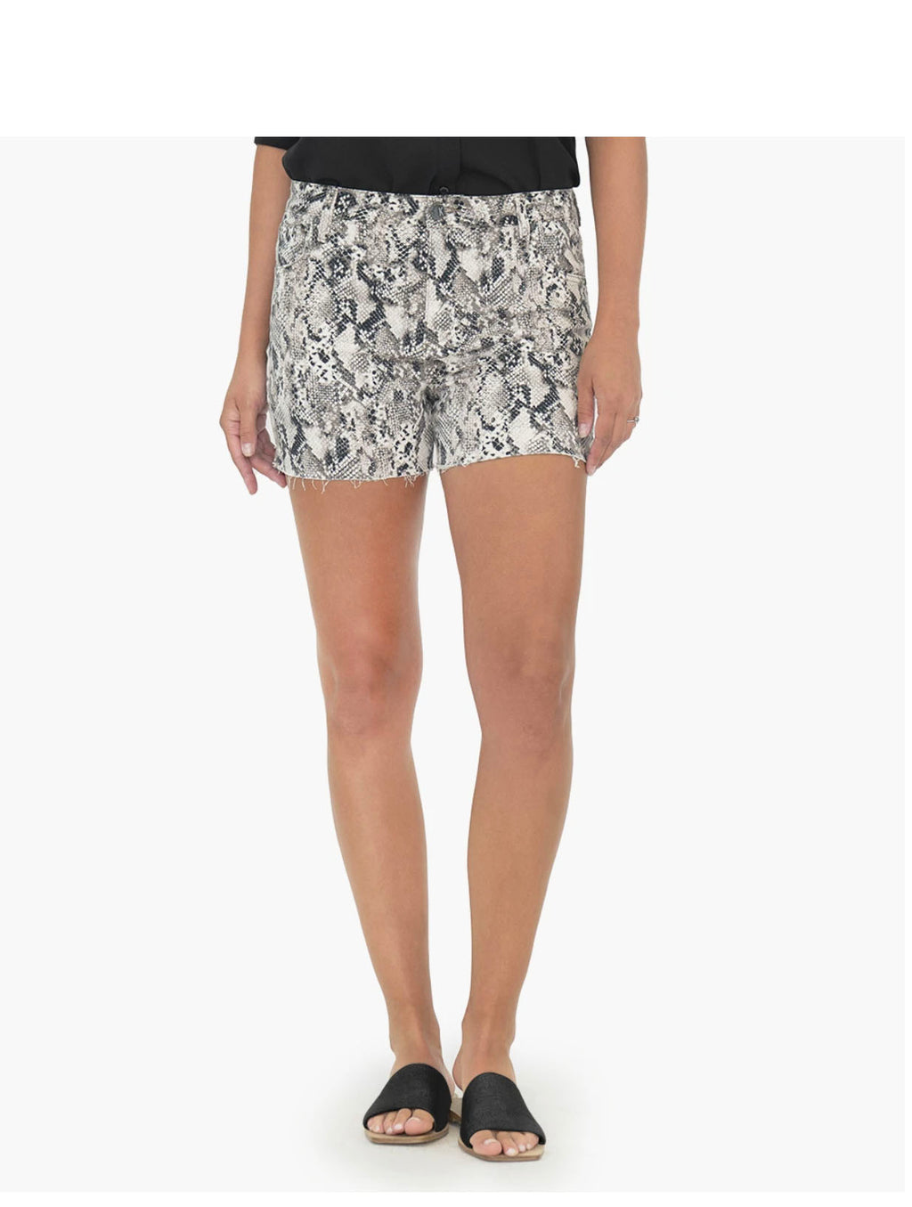 Kut Gidget High Rise Short in Snake