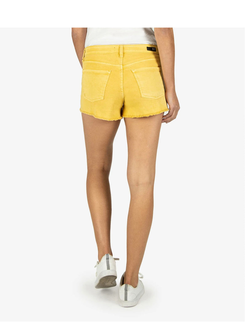 Kut Jane High Rise Short in Gold