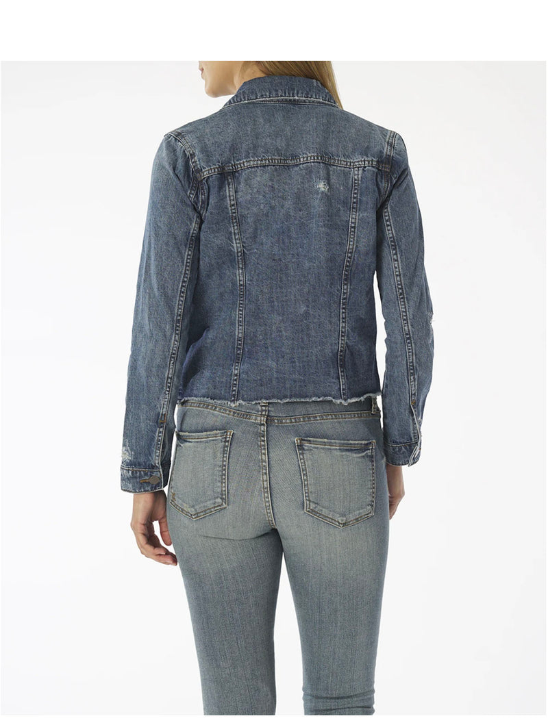 Kut From The Kloth Julia Cropped Jacket in Pushing