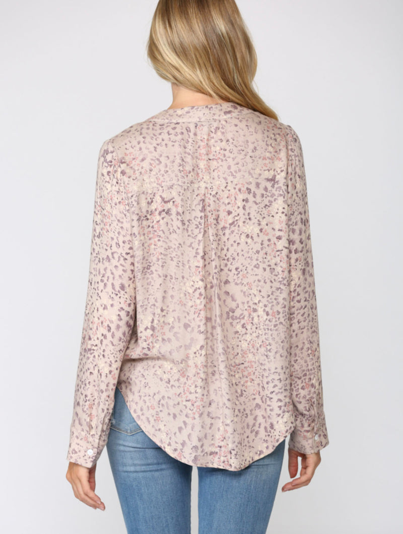 Fate Tie Top in Blush Leopard