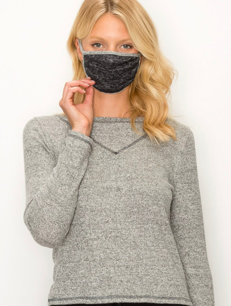 Coin 1804 Fuzzy Mask in Black