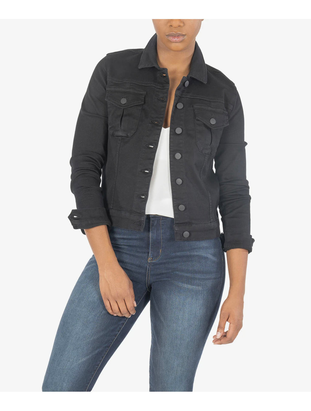 Kut Amelia Denim Jacket in Black