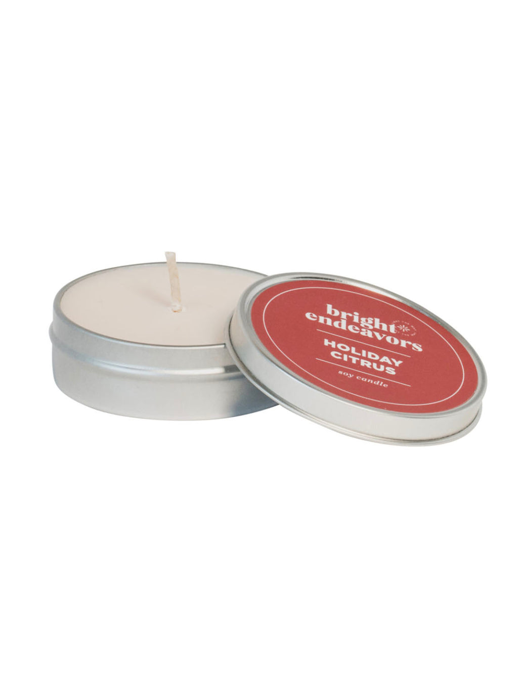 Bright Endeavors 4oz Small Tin Candle in Holiday Citrus