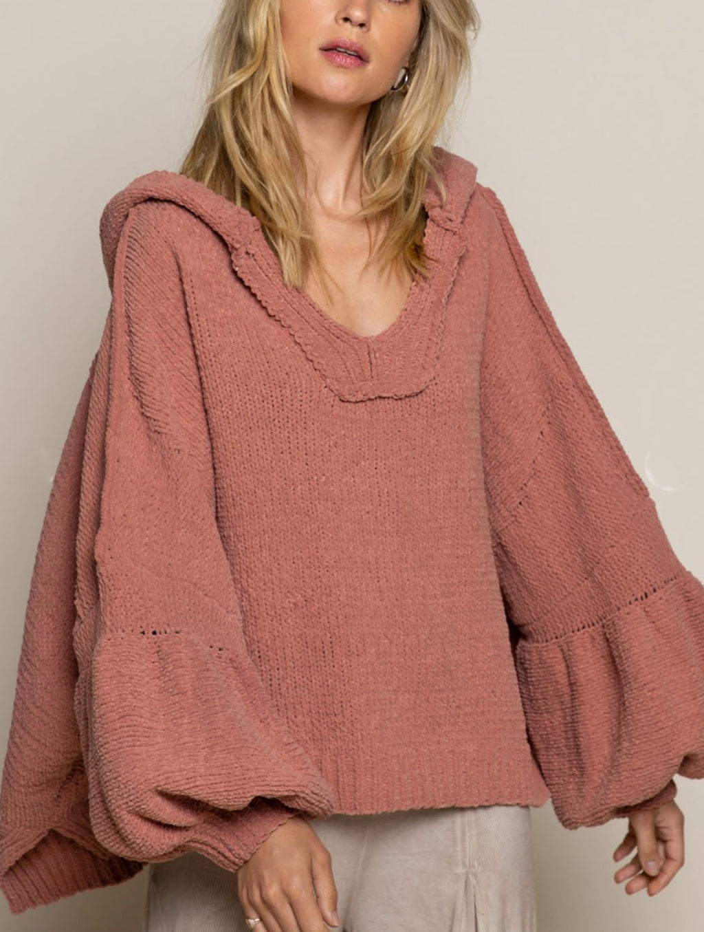 Pol Hoodie Pullover in Canyon Clay