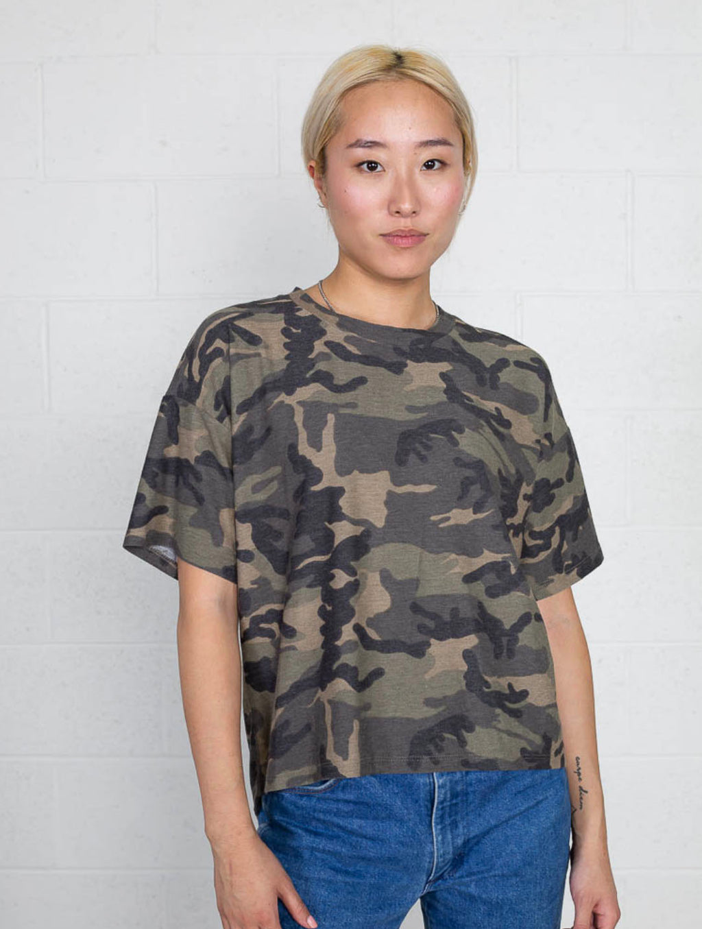 No Less Than Basic Tee in Camo
