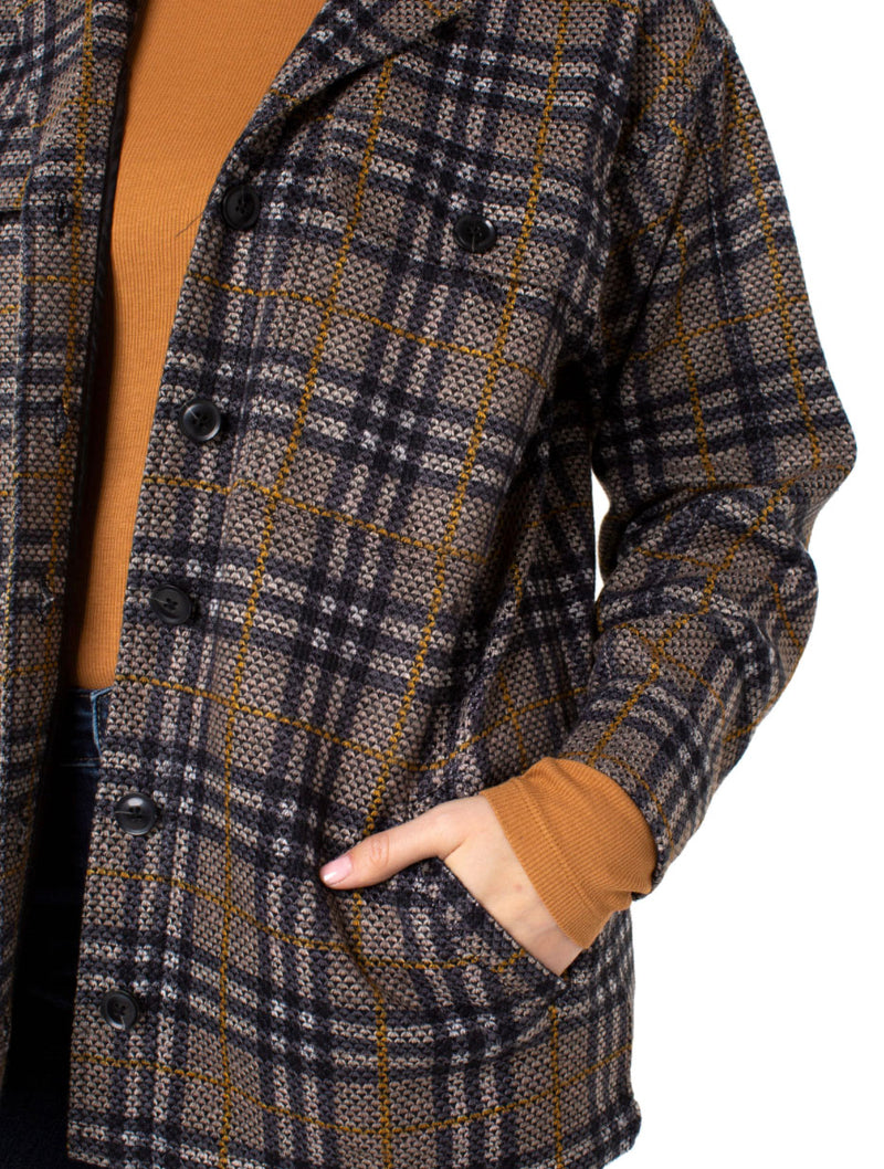 Liver Pool Boxy Jacket in Cream/Black Plaid