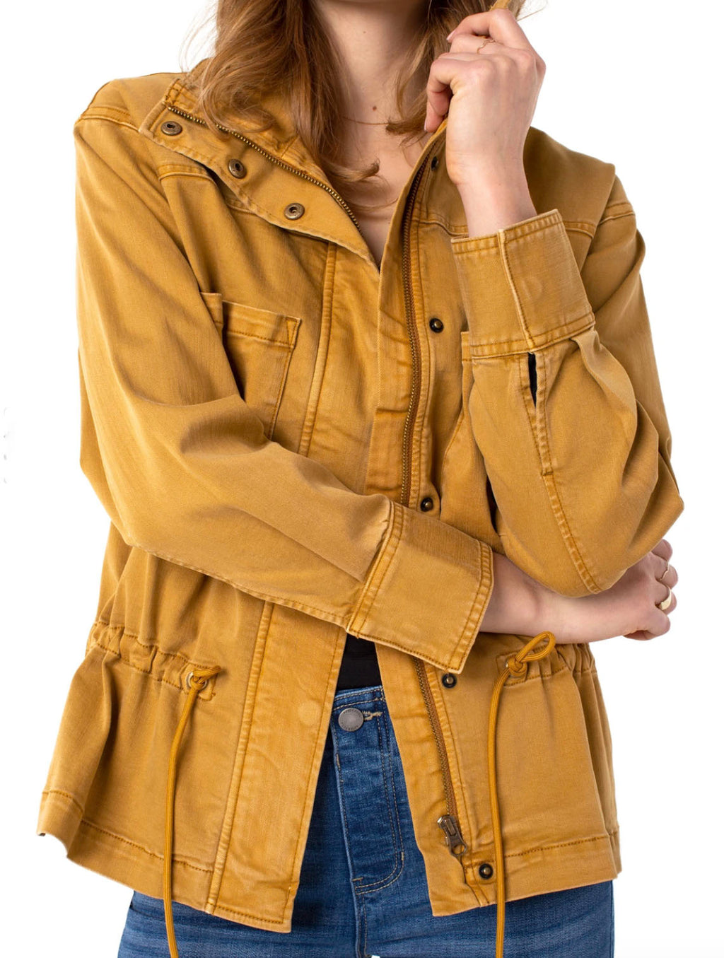 Liverpool Zip Anorak Jacket in Honey