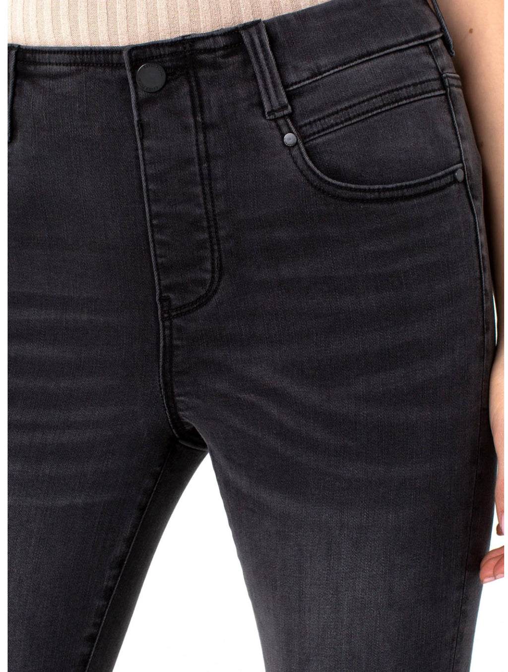 Liverpool Gia Glide Mid Rise Jean in Raw Norris