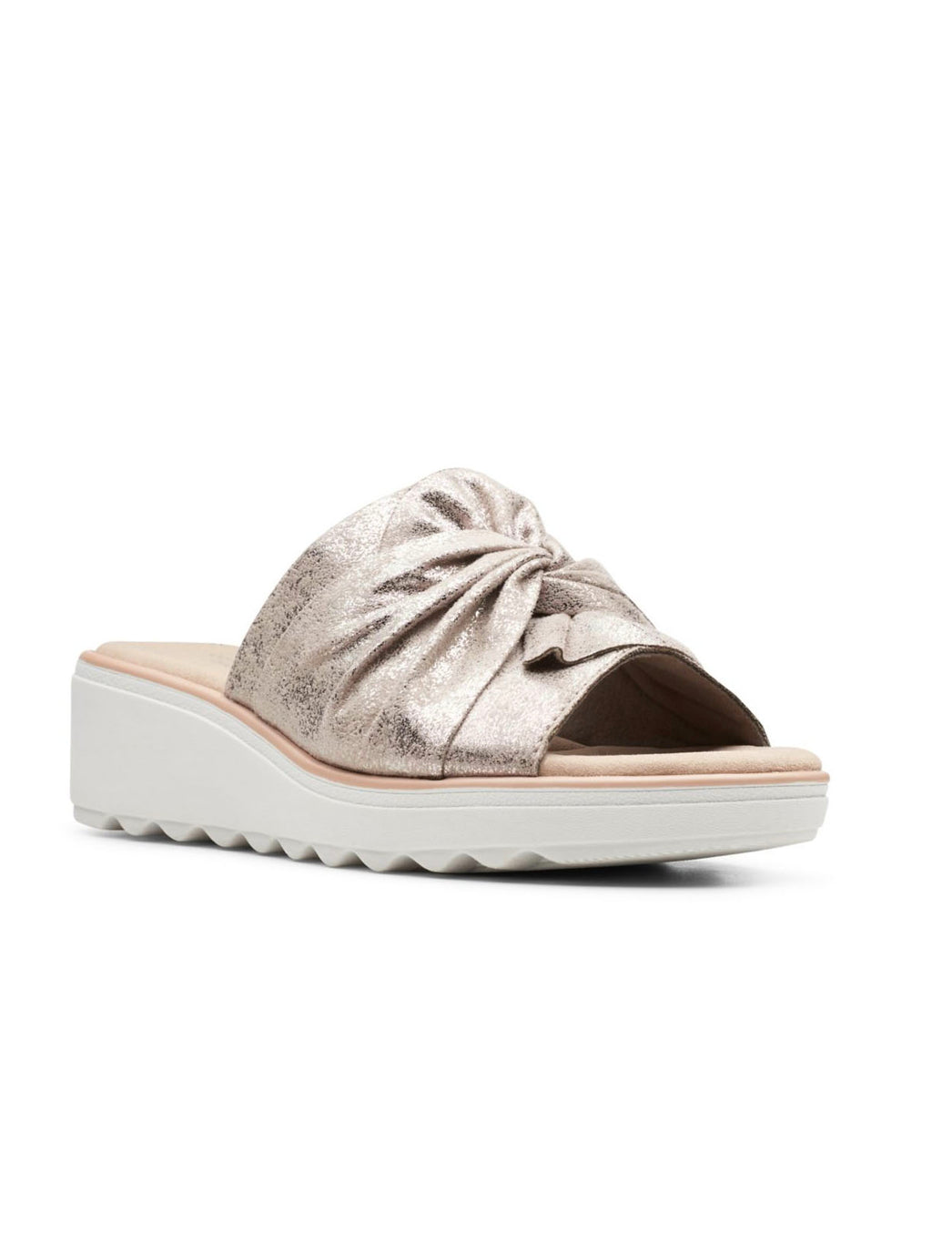 Clarks Jillian Leap Sandal in Pewter