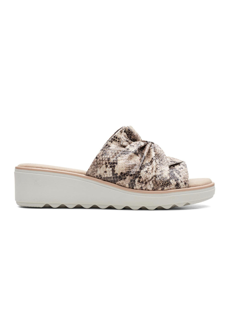 Clarks Jillian Leap in Taupe Snake