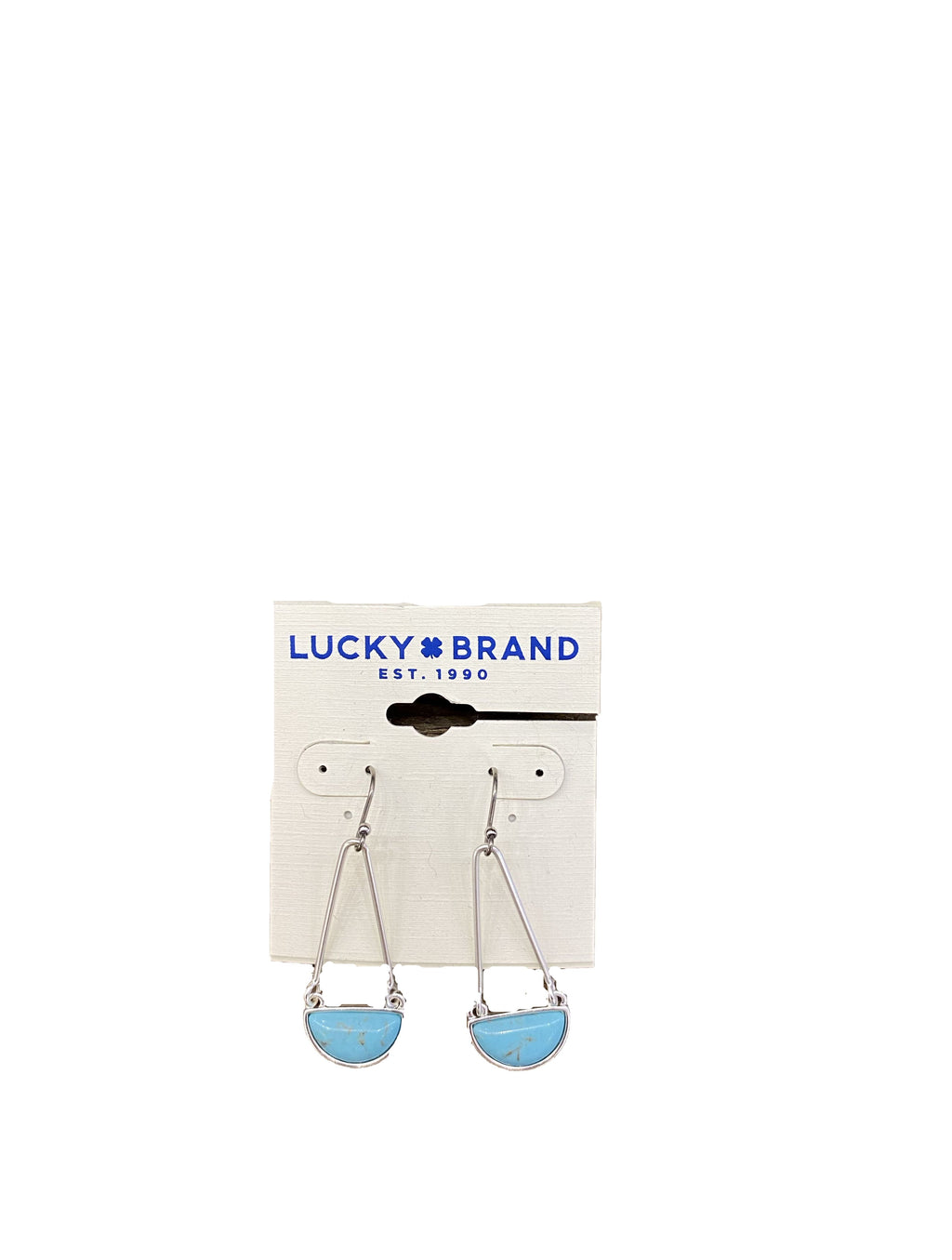 Lucky Brand Dangle Earrings in Turquoise/Silver