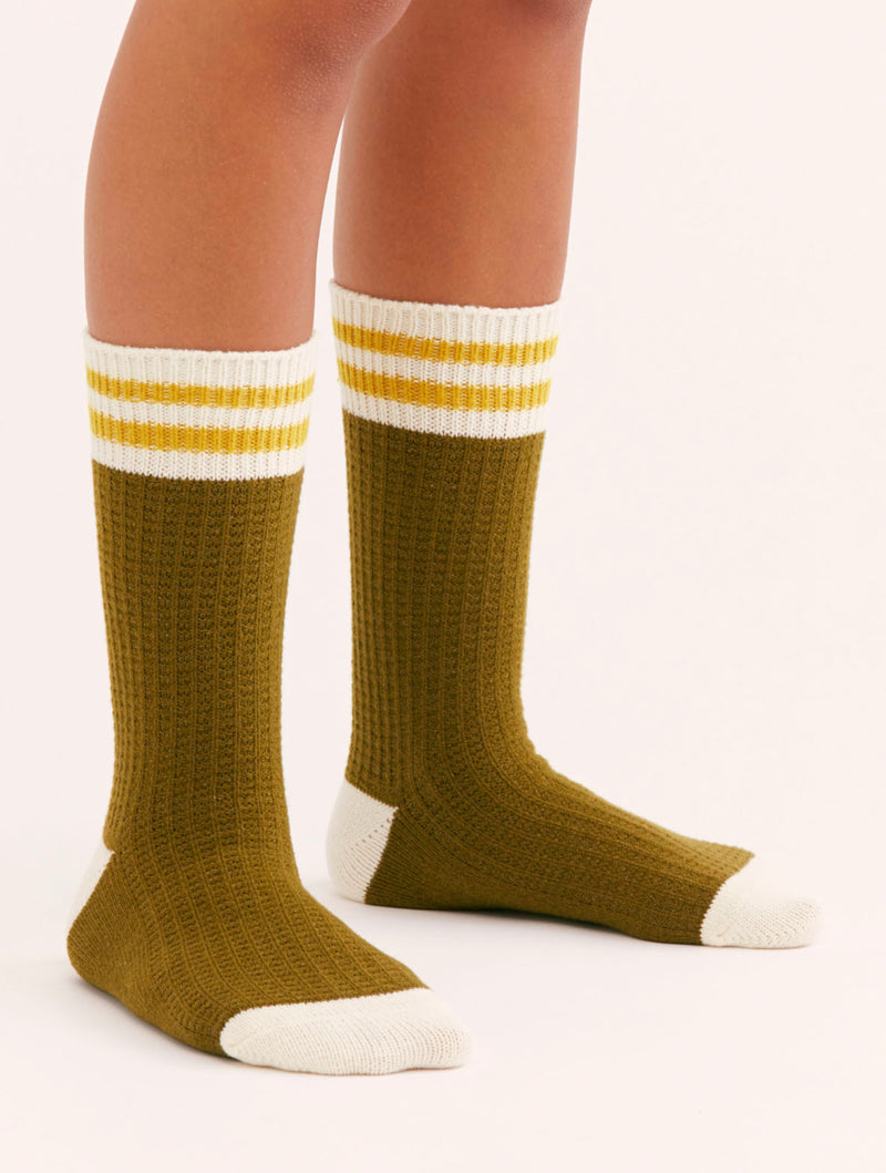 Free People Jackson Sock in Olive