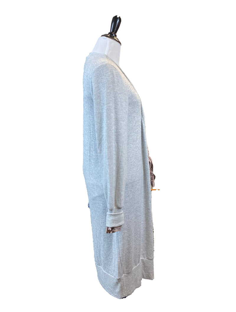 Lucky Brand Cardigan in Heather Grey