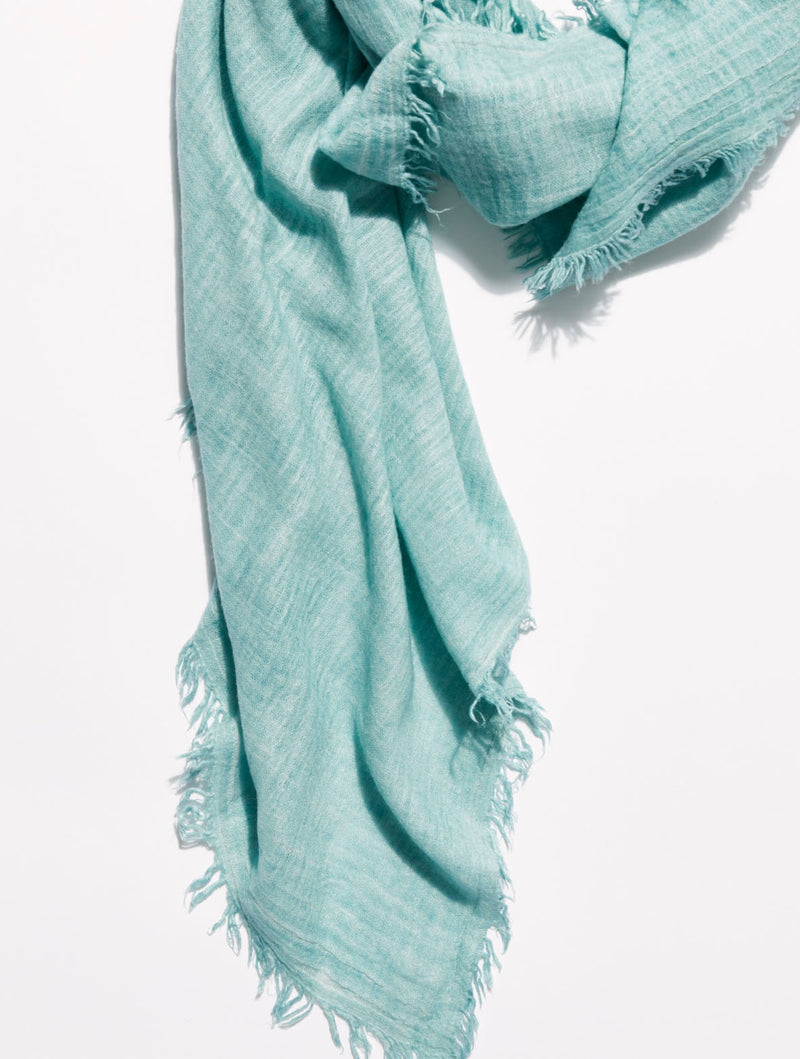 Free People Sun Washed Travel Scarf in Turquoise