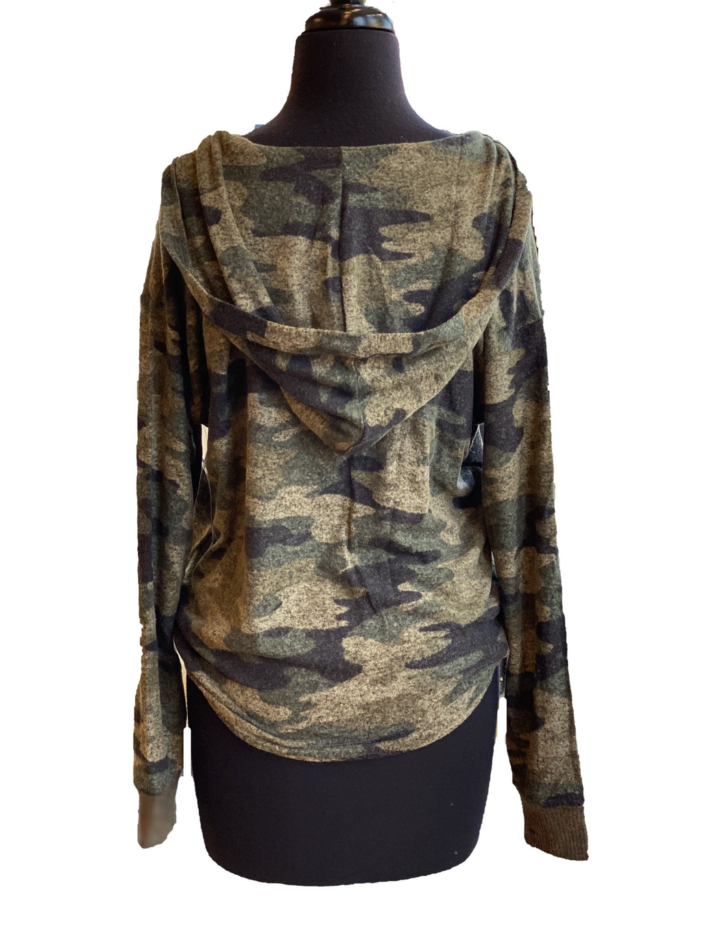 Lucky Brand Jersey Hoodie in Camo